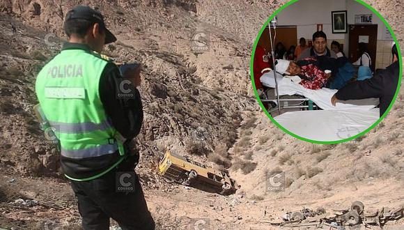 Volcadura de bus interprovincial en Arequipa deja al menos 16 fallecidos y decenas de heridos (FOTOS)