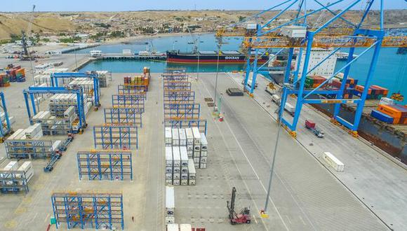 Piura: a un 73% de su capacidad de almacenamiento de contenedores aumentó el Puerto de Paita (Foto: MTC).