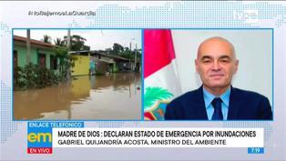 """Quijandría sobre inundaciones en Madre de Dios: """"La situación es preocupante"""""""
