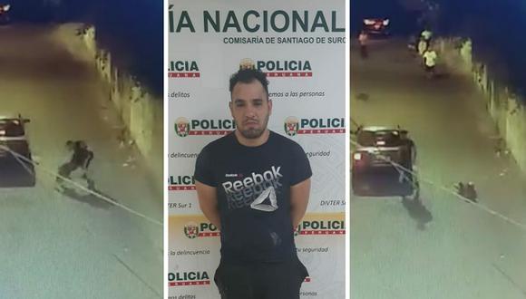 Llegada a comisaría de Surco del Venezolano Edison Jesús Romero (35) que golpeo a su pareja. Fotos: Gonzalo Córdova