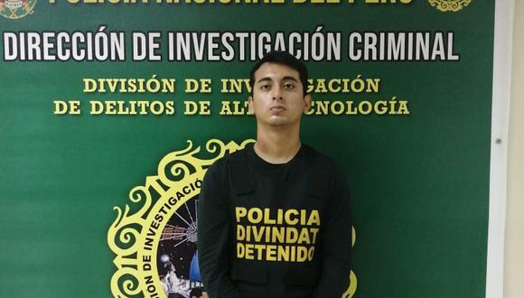 El detenido Edu Fretel fue intervenido en marzo del año pasado por el mismo delito. (PNP)