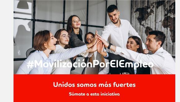El Grupo Adecco, una de las empresas de Gestión Humana más grande del mundo, puso en marcha desde el 1 de marzo Movilización por el Empleo. (Captura de pantalla)