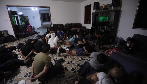 Un total de 66 personas, 59 de ellas venezolanas fueron intervenidas en una fiesta en Chaclacayo en un búnker y hoy están libres.