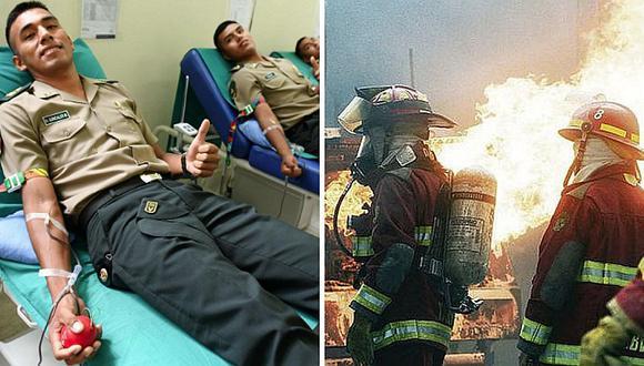 Alumnos de la policía se solidarizan y donan sangre para bomberos heridos en VES