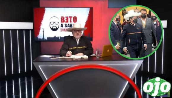 Beto Ortiz critica vestimenta de Pedro Castillo. Foto: (Captura/Willax tv | redes sociales).