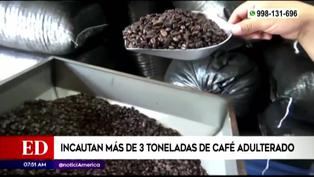 Policía Nacional incauta más de tres toneladas de café adulterado