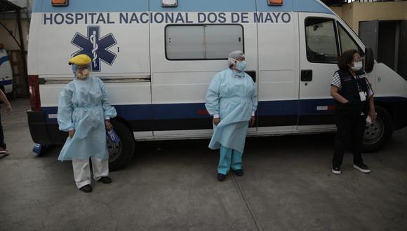 Ulises Martínez Martínez Rossel permanece internado en el Hospital Dos de Mayo.(Foto: Anthony Niño de Guzmán / @photo.gec)