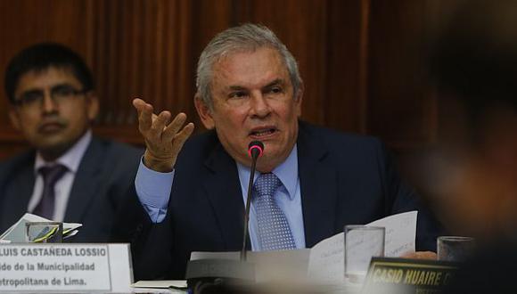 Luis Castañeda Lossio acudió la semana pasada a la Comisión de Transporte por el caso OAS. (Archivo El Comercio)