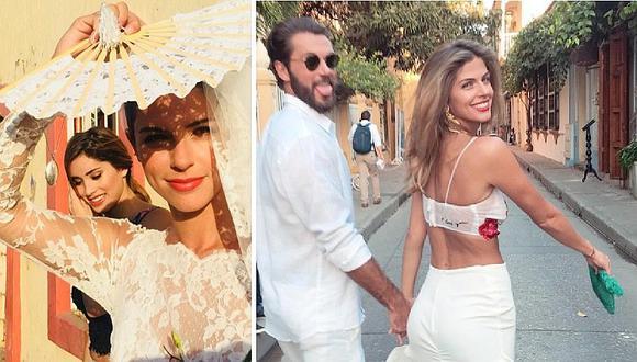 Stephanie Cayo publica fotos inéditas del día de su boda