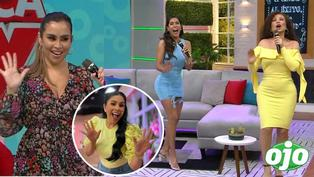 "Ethel Pozo, Janet y Melissa se ríen bailando ""Pasito tun tun"" de Maricarmen Marín"