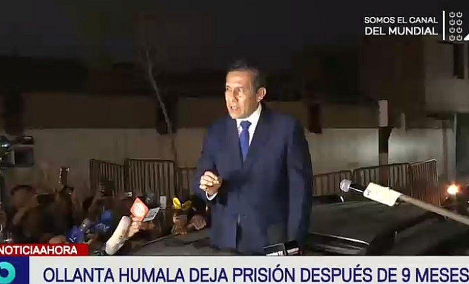"""Ollanta Humala abandona penal de Barbadillo: """"Mi pensamiento y mi corazón están en mi familia"""""""
