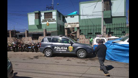 Suboficial PNP acusado de robarle celular a su colega fue llevado a comisaría de Santa Bárbara en Juliaca (foto: archivo)
