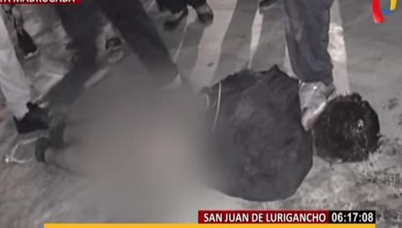Vecinos de SJL atrapan a ladrón y lo golpean hasta mandarlo al hospital│VIDEO