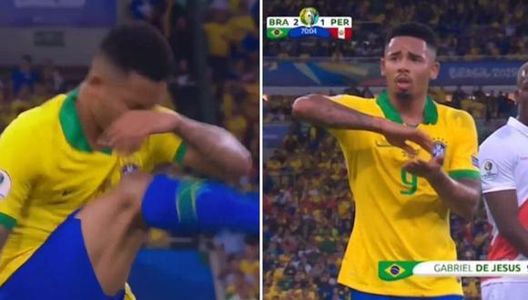 Perú vs. Brasil: el polémico gesto de Gabriel Jesús al ser expulsado│VIDEO