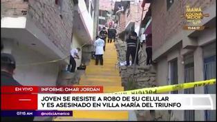 Sujeto de 22 años fue asesinado tras robo de su celular en Villa María del Triunfo
