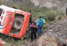 Áncash: al menos 15 personas quedaron heridas tras despiste de bus