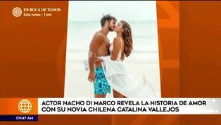 Actor Nacho Di Marco revela historia de amor con la influencer chilena Catalina Vallejo