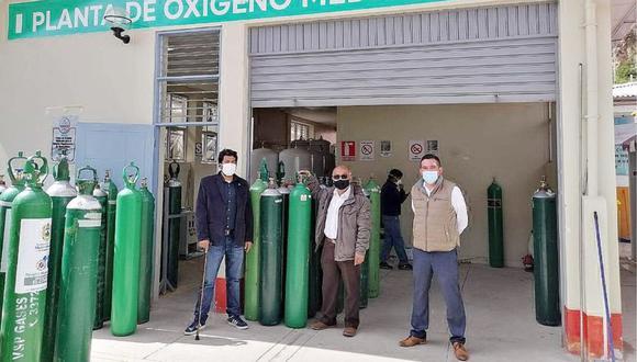 Huancavelica: entregan 42 balones de oxígeno para pacientes COVID-19 en Huaytará (Foto: Gore Huancavelica)