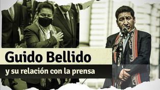 Guido Bellido: los incidentes que ha tenido el premier peruano con la prensa