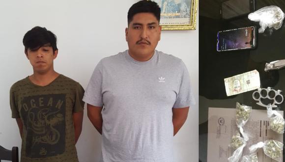 Arequipa: Detienen a dos personas que comercializaban marihuana al costado de comisaría. (Foto: PNP)