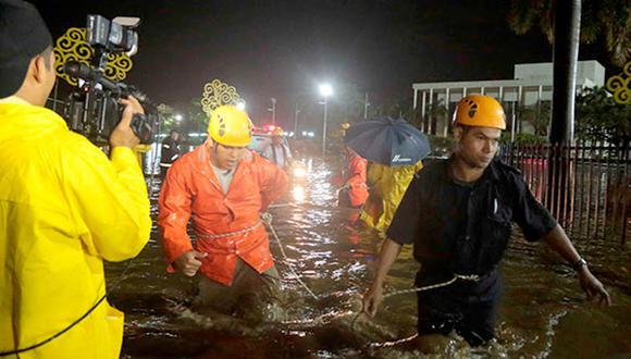 Nicaragua: Lluvia inunda la casa presidencial