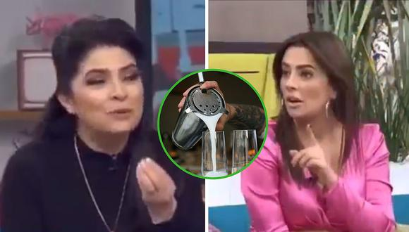 """Victoria Ruffo saca """"cara"""" por el pisco peruano y corrige a conductora argentina que dijo que era chileno (VIDEO)"""