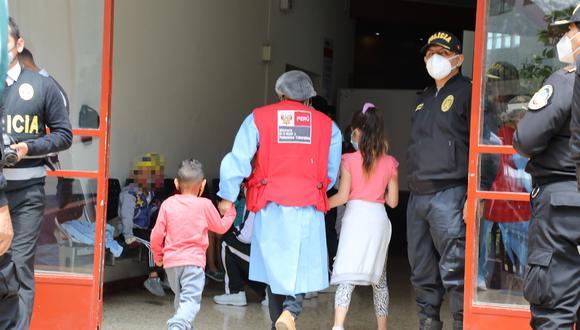 La mayoría de niños rescatados son de nacionalidad extranjera. (Foto: MIMP)