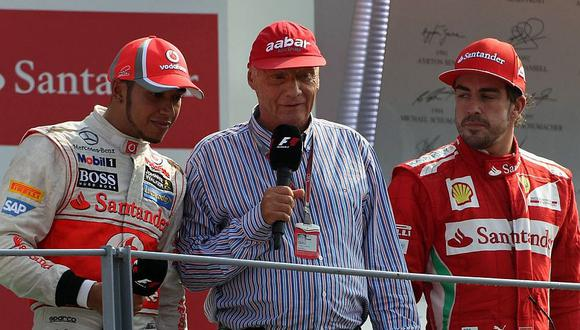 Fórmula 1: Antes de morir, Niki Lauda puso en su sitio a Alonso, Vettel y Hamilton