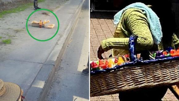 Niñita ambulante intentaba huir de los inspectores y terminó atropellada
