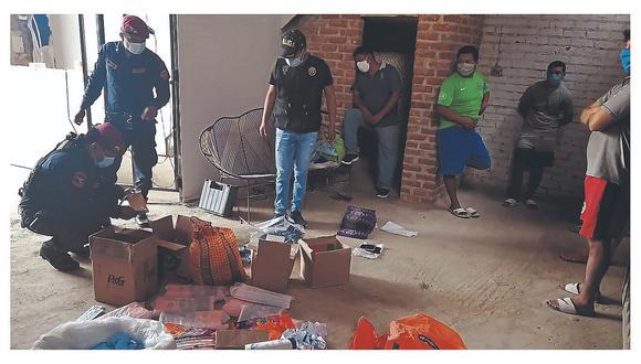 El dueño de la mercadería y cuatro estibadores fueron detenidos durante la intervención en Chiclayo. (Foto: GEC)