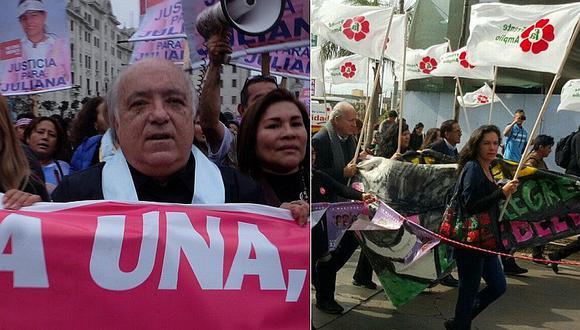 #NiUnaMenos: Este habría sido el grupo que hizo proselitismo político en plena marcha [FOTOS]