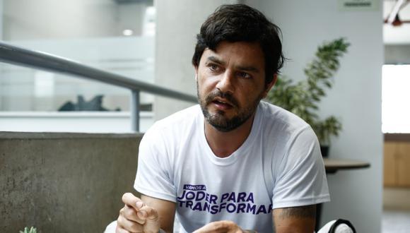 Candidato Daniel Olivares postula al Congreso con el Partido Morado / Foto: Joel Alonso