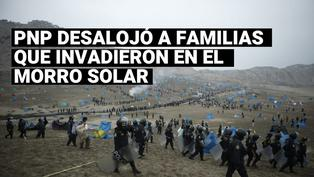 Chorrillos: policías desalojaron a invasores del Morro Solar
