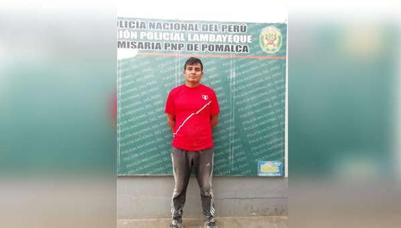 La detención del depravado se produjo el miércoles 10 de julio del 2019 en Pomalca. (Foto: Difusión)