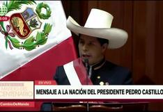 """La promesa de Castillo en su mensaje presidencial: """"en julio de 2026 regresaré a mis labores de docente"""""""