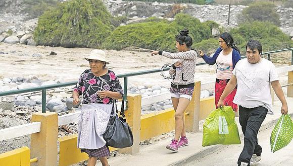 Incremento del caudal del río Rímac causa miedo y alarma entre pobladores