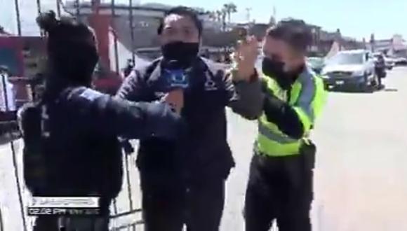 Said Rodríguez fue detenido cuando intentaba ingresar a un centro de vacunación en México. (Foto: @enryhdez | Twitter)