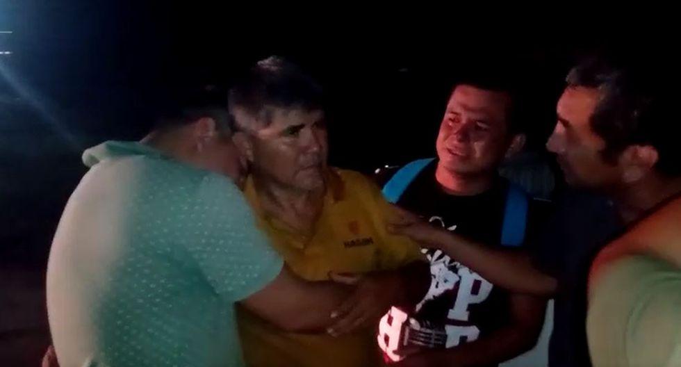 Empresario fue rescatado esta madrugada y se reencontró con sus hijos.