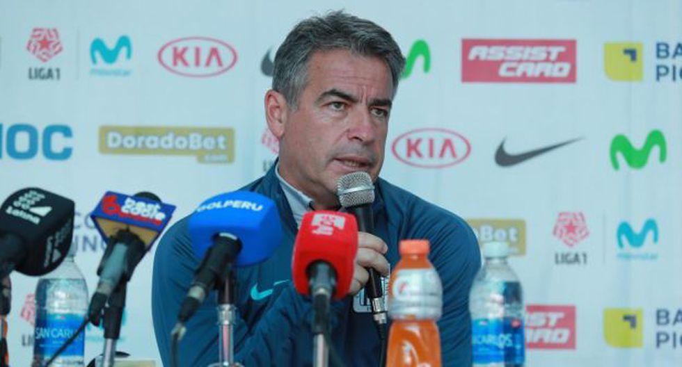 """Pablo Bengoechea se quedó con """"un dolor enorme"""" tras perder la final de la Liga 1. (Foto: Lino Chipana / GEC)"""