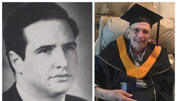 Octogenario cumple sueño de graduarse tras seis décadas de iniciar sus estudios universitarios