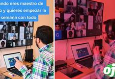 Profesor pasa lista a sus alumnos con mucho estilo durante sus clases virtuales   VIDEO