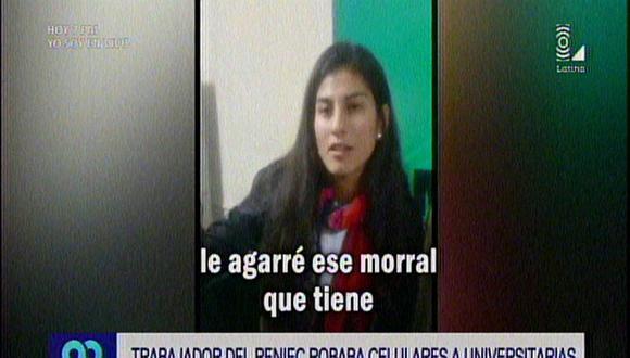 Breña: Trabajador del Reniec robaba celulares a universitarias