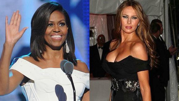 ¡He aquí la diferencia! ¿Michelle Obama resalta más que Melania Trump? [FOTOS]