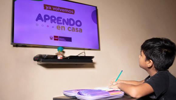 Los contenidos de Aprendo en Casa, en su plataforma virtual, televisiva y radial, son elaborados por un equipo multidisciplinario integrado por más de 100 profesionales de la educación (Foto: Andina)