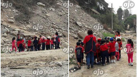 Chosica: escolares recorren zona afectada por huaicos para aprender sobre desastres naturales