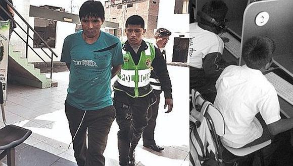 Detenido por manosear a niño en baño de su local de internet en SJL
