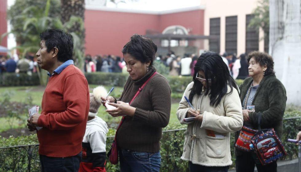 Los limeños continuarán llegando a lo largo del día. (Foto: César Campos/GEC)