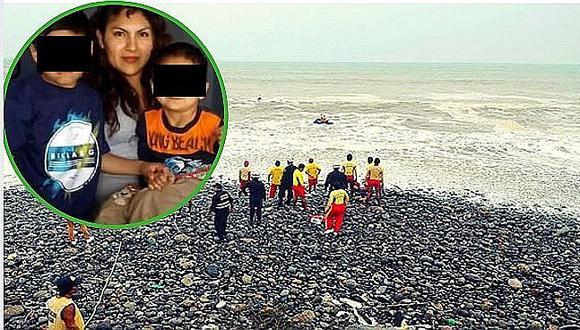 Madre ahoga a sus dos hijitos y como no lo logró, los dejó morir en la playa