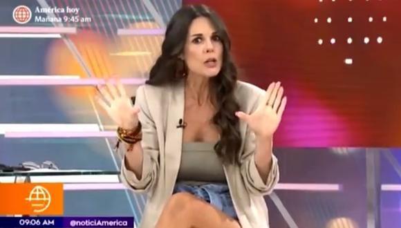 """""""Me dijeron regresas o te despido"""" Rebeca Escribens revela que casi la sacan de América TV"""