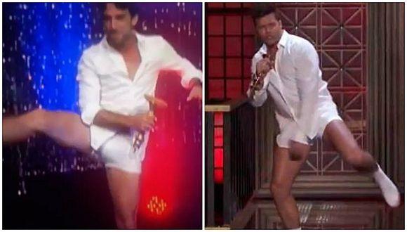 Antonio Pavón quiso imitar a Ricky Martin en calzoncillos pero todo le salió mal (VIDEO)